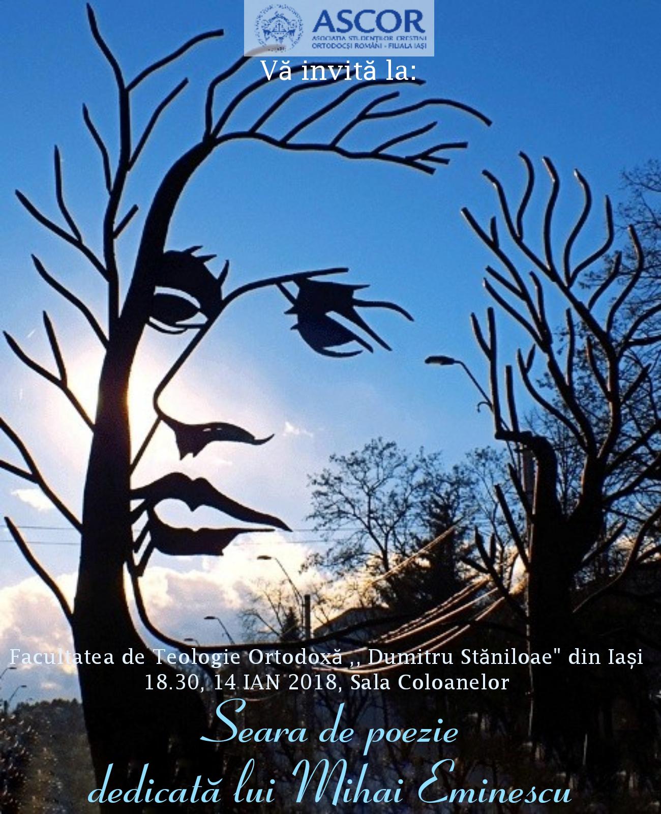 Seara de poezie dedicata lui Mihai Eminescu